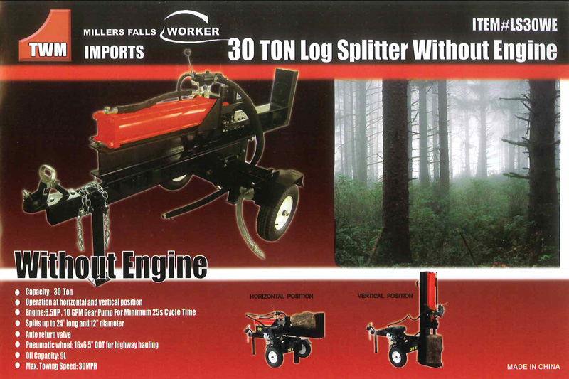 Millers Falls 30 Ton Log Splitter - Roberts Don Mac
